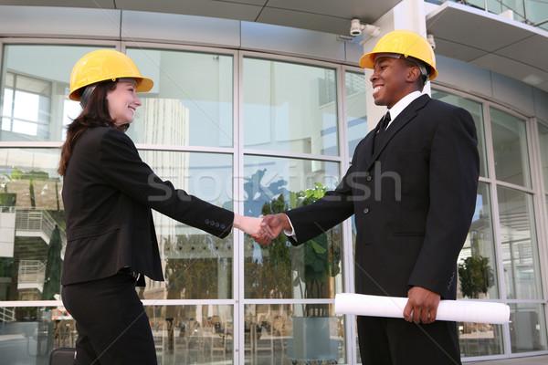 Man and Woman Construction Team Stock photo © nruboc