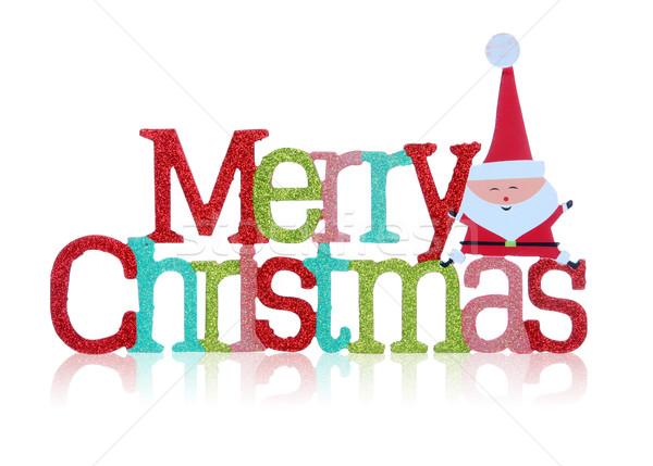 Merry Christmas Sign Stock photo © nruboc