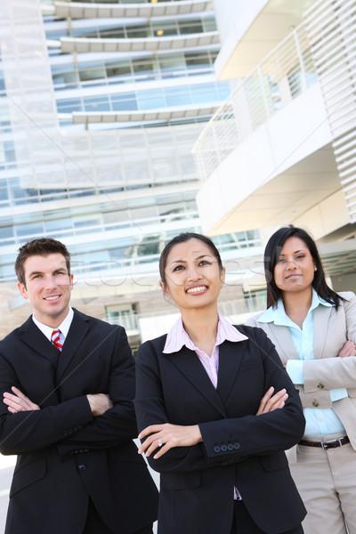 Diverso equipe de negócios escritório homem mulher prédio comercial Foto stock © nruboc