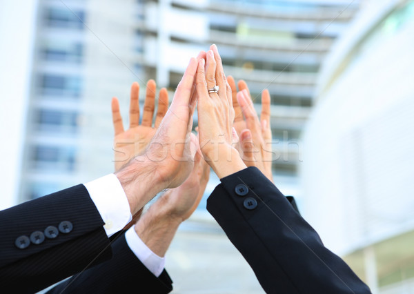 Foto stock: Equipe · de · negócios · sucesso · pessoas · de · negócios · equipe · escritório