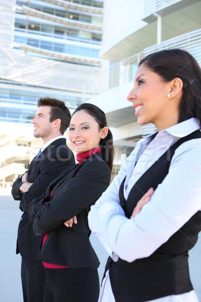 男 女性 ビジネスチーム 魅力的な オフィスビル ストックフォト © nruboc