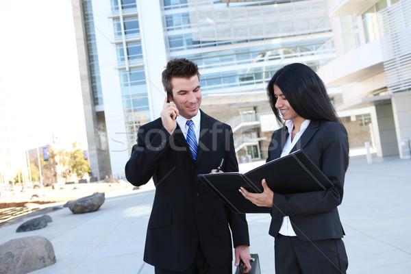 Stock fotó: üzleti · csapat · iroda · kisebbségi · férfi · nő · irodaház
