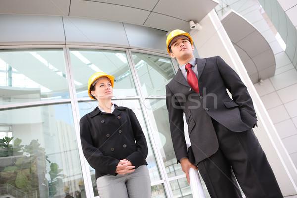 Zdjęcia stock: Zespół · firmy · biuro · budowa · atrakcyjny · pracy · budowy