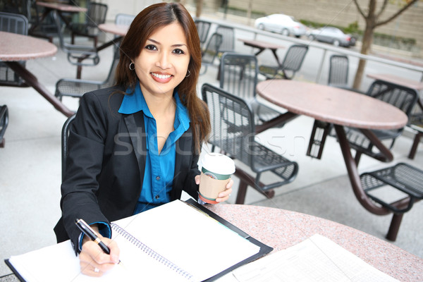 Pretty Asian Business Woman Stock photo © nruboc