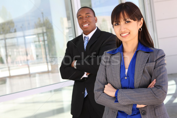 Stock photo: Diverse Business Team at Office Building