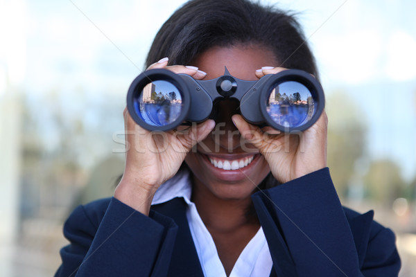 African Woman with Binoculars Stock photo © nruboc