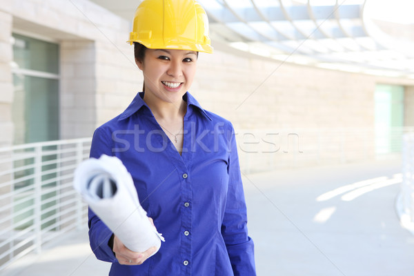 Asian Builder on Construction Site Stock photo © nruboc