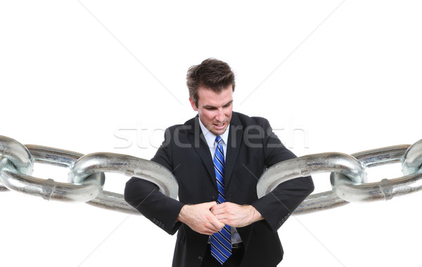 Stock photo: Business Man Connection