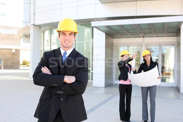 человека женщину архитектора команда деловой человек строительство Сток-фото © nruboc