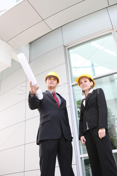 бизнес-команды служба строительная площадка привлекательный рабочих строительство Сток-фото © nruboc