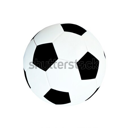 Leather soccer ball isolated on white  Stock photo © nuiiko