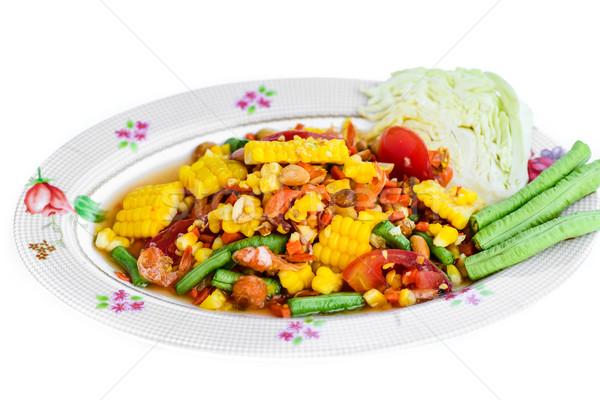 ストックフォト: サラダ · ピーナッツ · エビ · タイ