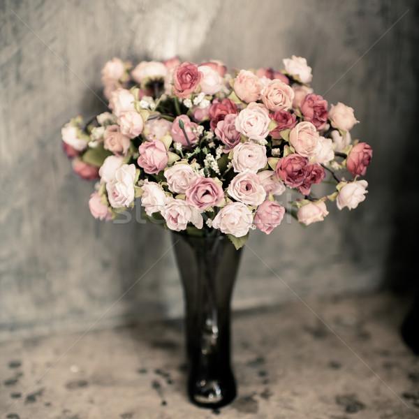 Romantic vintage rose bouquet. Stock photo © nuiiko