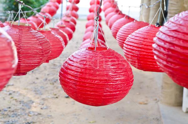 Rood chinese rij show papier textuur Stockfoto © nuiiko