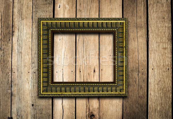 古い 画像フレーム ヴィンテージ 木材 壁 背景 ストックフォト © nuiiko
