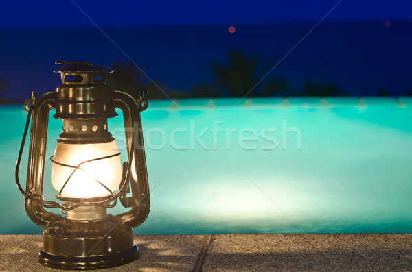 Lampy jacuzzi noc wody przestrzeni zabawy Zdjęcia stock © nuiiko