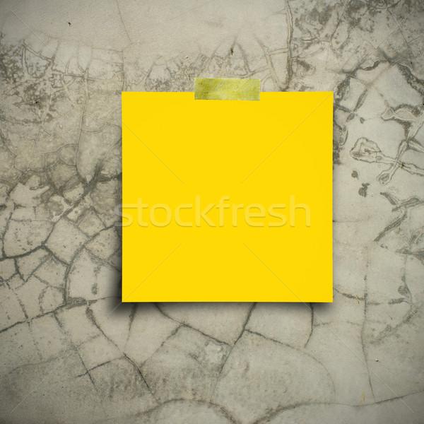 紙 注記 テープ 古い 壁 テクスチャ ストックフォト © nuiiko