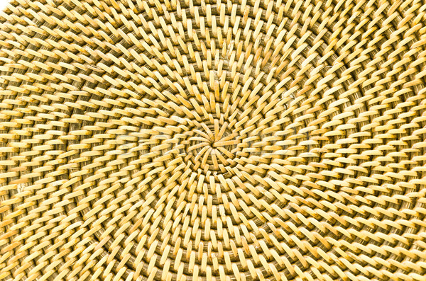 Circle background from rattan fibers  Stock photo © nuiiko