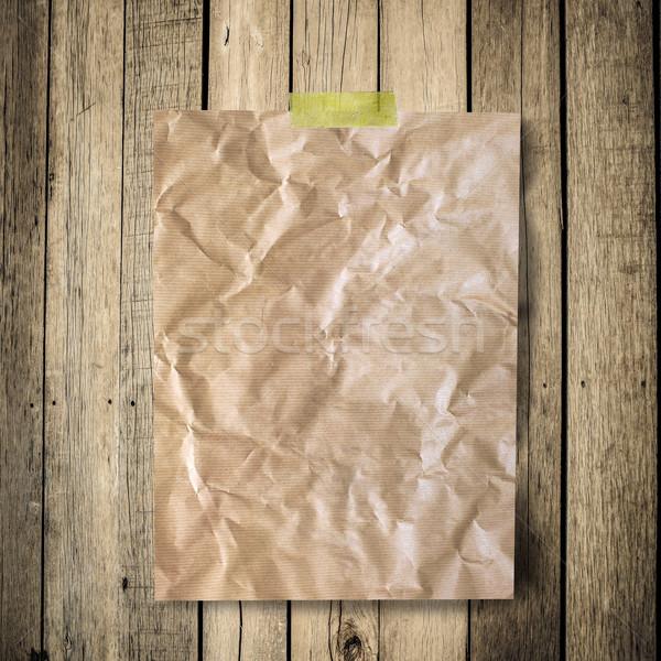 Oude papier bruin houtstructuur natuurlijke patronen Stockfoto © nuiiko