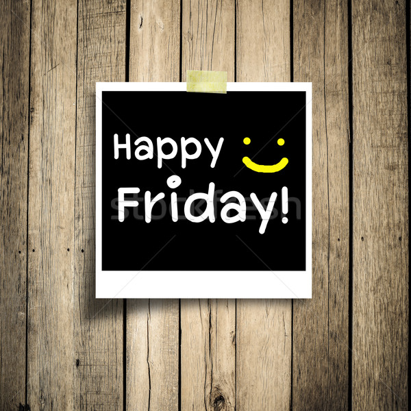 Happy Friday on grunge wooden background with copy space Stock photo © nuiiko