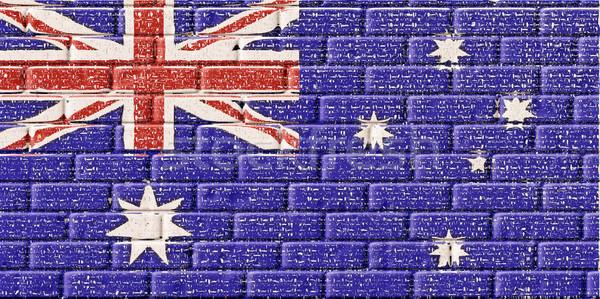 オーストラリア フラグ レンガ テクスチャ ファッション ストックフォト © nuiiko