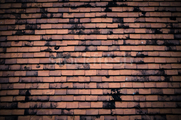 Black tiled roof for background usage  Stock photo © nuiiko