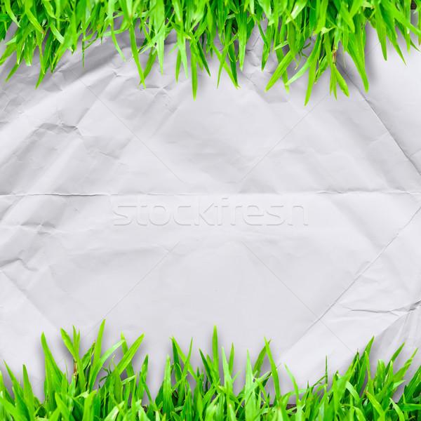紙 緑の草 コピースペース 文字 草 道路 ストックフォト © nuiiko