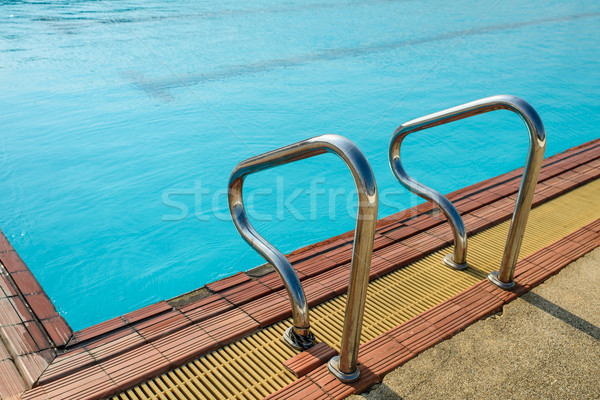 Landschap zwembad blauwe hemel water sport zomer Stockfoto © nuiiko