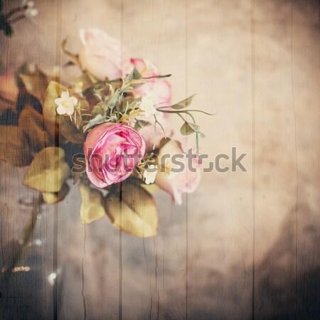 Boeket rozen bloemen stilleven huis liefde Stockfoto © nuiiko