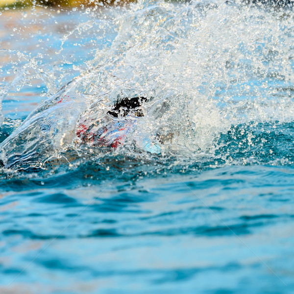 水 少年 ジャンプ プール 抽象的な ストックフォト © nuiiko