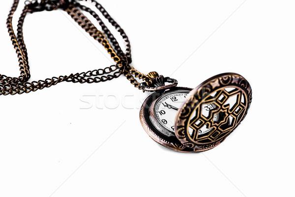 Reloj de bolsillo blanco textura cara reloj fondo Foto stock © nuiiko