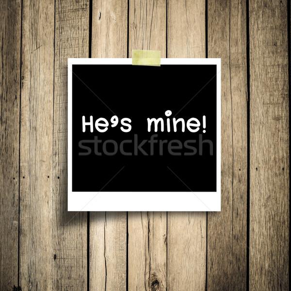 Mijn bericht grunge houten exemplaar ruimte textuur Stockfoto © nuiiko