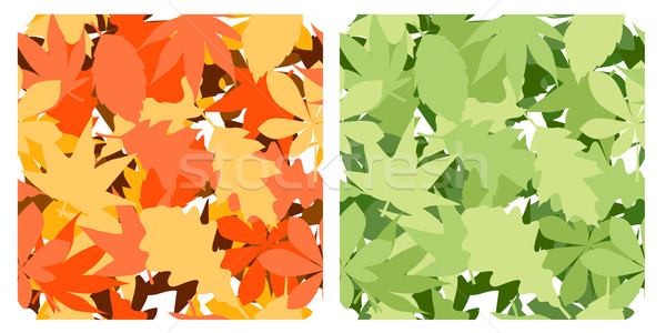 Stock photo: Seamless pattern with leaves