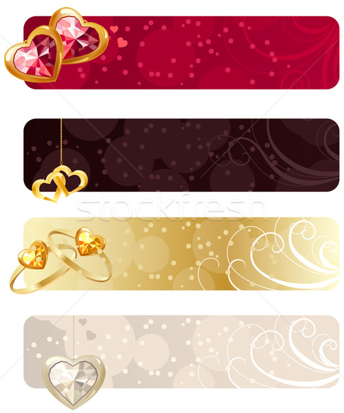 For horizontal  banners with jewels Stock photo © nurrka