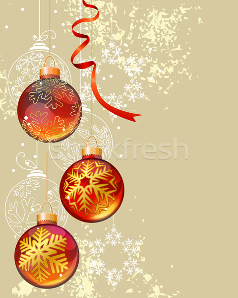 Christmas background with glass balls Stock photo © nurrka