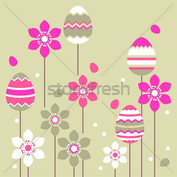 Growing easter eggs Stock photo © nurrka