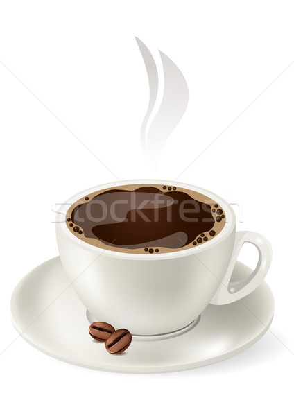 Cup of hot coffee. Stock photo © nurrka