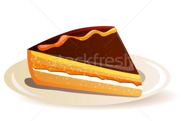 Naranja torta chocolate aislado blanco boda Foto stock © nurrka