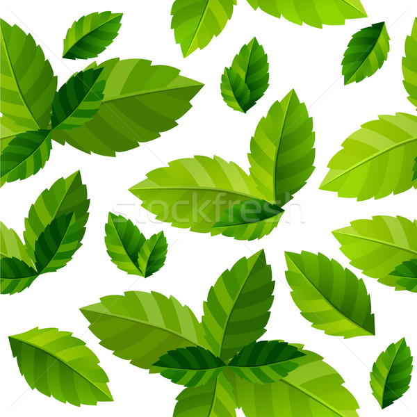 Seamless background mint leaves Stock photo © nurrka