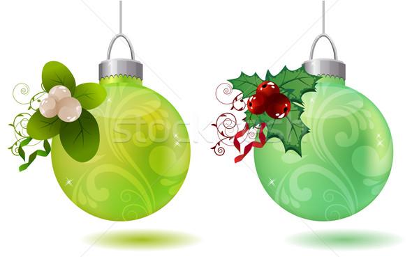 Hanging christmas balls Stock photo © nurrka