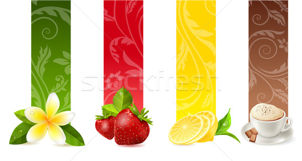 Set of different food banners Stock photo © nurrka