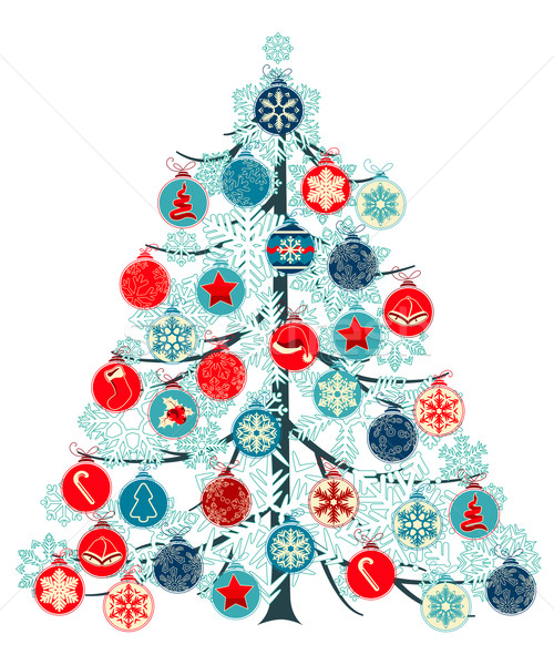 Christmas tree made of balls Stock photo © nurrka