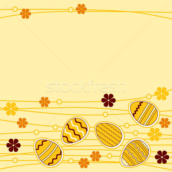 Greeting card wirh easter eggs Stock photo © nurrka