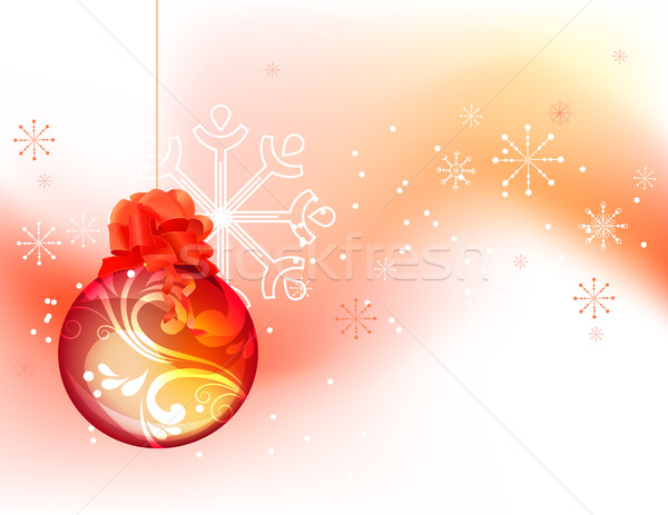 Christmas background with red ball Stock photo © nurrka
