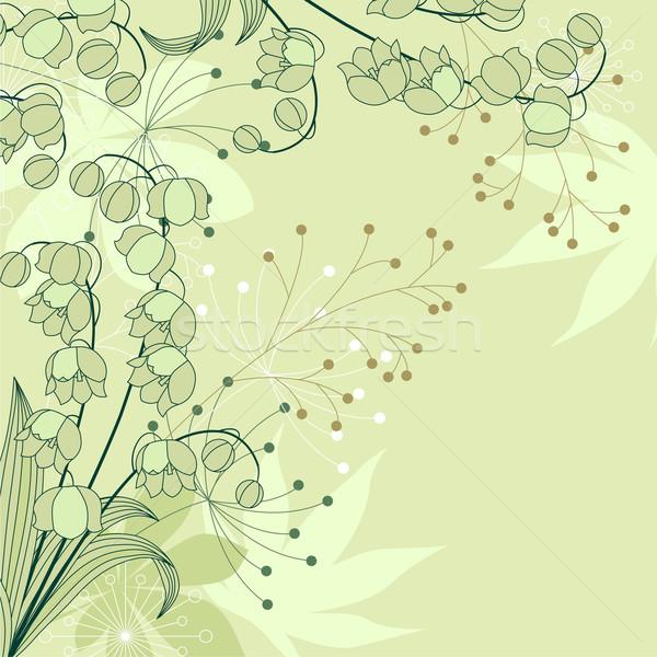 スタイリッシュ フローラル 薄緑 花 イースター ストックフォト © nurrka