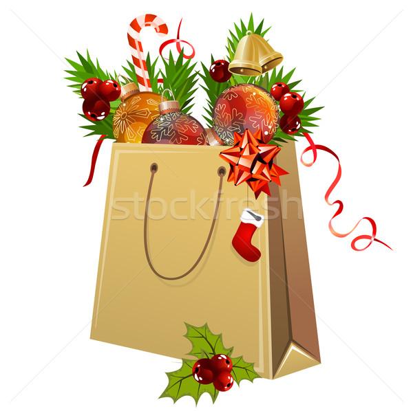紙袋 フル クリスマス 装飾 白 ストックフォト © nurrka
