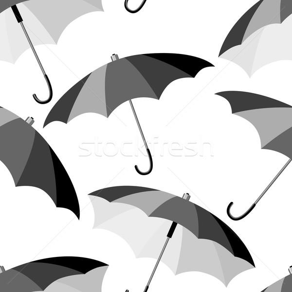 şemsiye model siyah erkekler Stok fotoğraf © nurrka