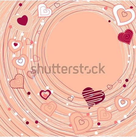 Rainbow swirl background with hearts Stock photo © nurrka
