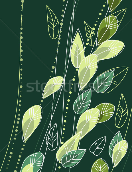 Green background with leaves Stock photo © nurrka