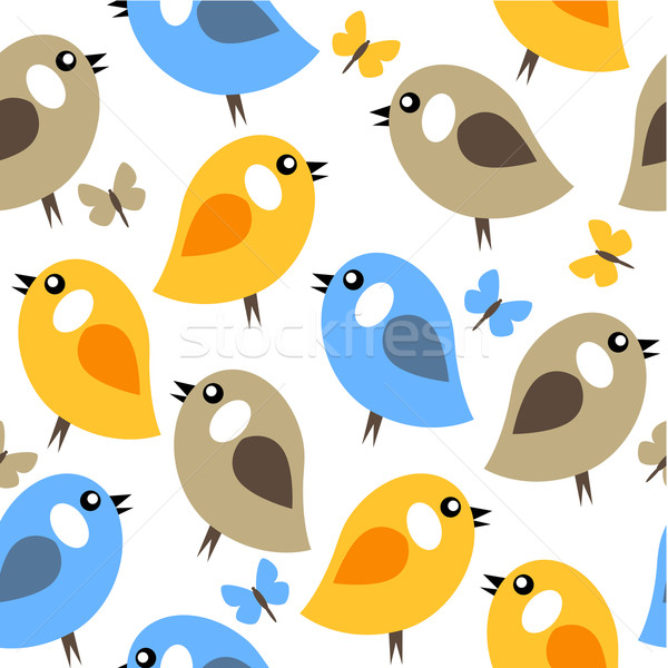 Seamless pattern with birds Stock photo © nurrka